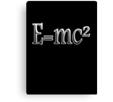 Albert Einstein, E=MC2, Mass x Energy, Squared, On Black, Mass, Energy Equivalence, Equation, Canvas Print