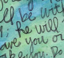 Deuteronomy 31:8 Watercolor Print Sticker