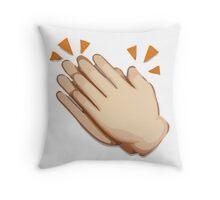 Clapping Hands Sign Apple / WhatsApp Emoji Throw Pillow