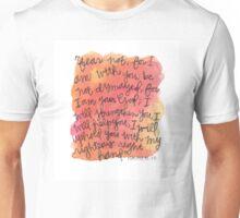 Isaiah 41:10 Watercolor Print Unisex T-Shirt