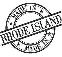 Made In Rhode Island Stamp Style Logo Symbol Black by surgedesigns