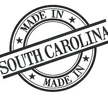 Made In South Carolina Stamp Style Logo Black by surgedesigns