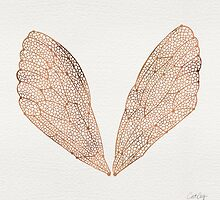 Cicada Wings in Rose Gold by Cat Coquillette
