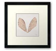 Cicada Wings in Rose Gold Framed Print