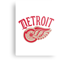 Old School Detroit Red Wings Metal Print