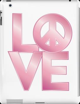 Pink Metallic LOVE=Peace by Lisann