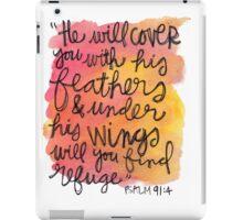 Psalm 91:4 iPad Case/Skin