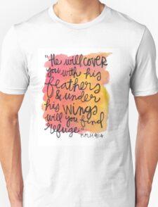 Psalm 91:4 Unisex T-Shirt