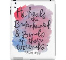 Psalm 143:7 Watercolor Print iPad Case/Skin