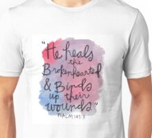 Psalm 143:7 Watercolor Print Unisex T-Shirt