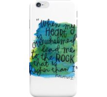 Psalm 61:2 Watercolor Print iPhone Case/Skin