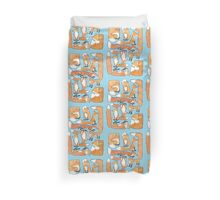 Foxes Collage Duvet Cover