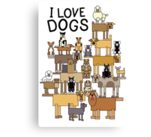 I Love Dogs Canvas Print