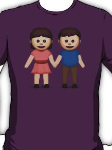 Man And Woman Holding Hands Apple / WhatsApp Emoji T-Shirt