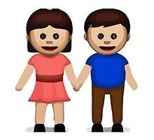 Man And Woman Holding Hands Apple / WhatsApp Emoji by emoji