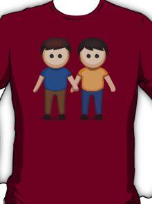 Two Men Holding Hands Apple / WhatsApp Emoji T-Shirt