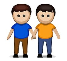 Two Men Holding Hands Apple / WhatsApp Emoji by emoji
