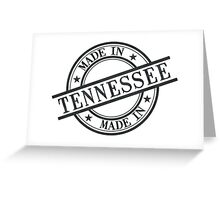 Made In Tennessee Stamp Style Logo Symbol Black Greeting Card