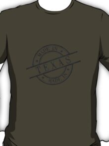 Made In Texas Stamp Style Logo Symbol Black T-Shirt