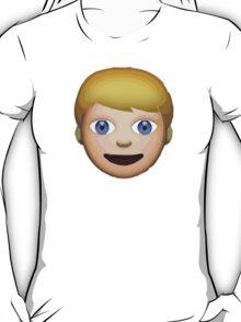 Person With Blond Hair Apple / WhatsApp Emoji T-Shirt
