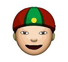 Man With Gua Pi Mao Apple / WhatsApp Emoji by emoji