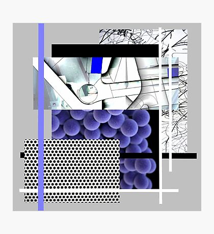 Cool blue abstract Photographic Print
