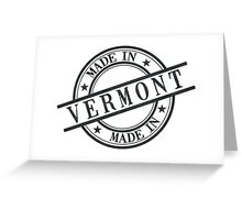 Made In Vermont Stamp Style Logo Symbol Black Greeting Card