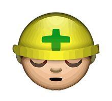 Construction Worker Apple / WhatsApp Emoji by emoji