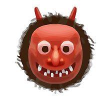 Japanese Ogre Apple / WhatsApp Emoji by emoji