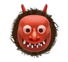 Japanese Ogre Apple / WhatsApp Emoji by emoji
