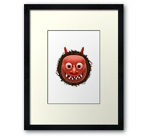 Japanese Ogre Apple / WhatsApp Emoji Framed Print