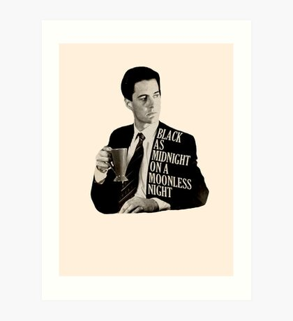 Cooper and good cup of coffee Art Print