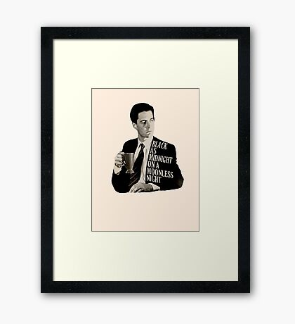 Cooper and good cup of coffee Framed Print