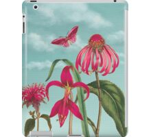 Raspberry Pink Flowers with Turquoise Sky iPad Case/Skin