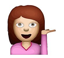 Information Desk Person Apple / WhatsApp Emoji by emoji
