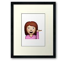 Information Desk Person Apple / WhatsApp Emoji Framed Print