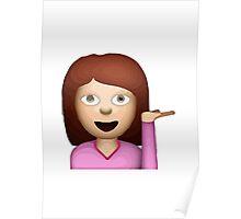 Information Desk Person Apple / WhatsApp Emoji Poster