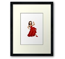 Dancer Apple / WhatsApp Emoji Framed Print