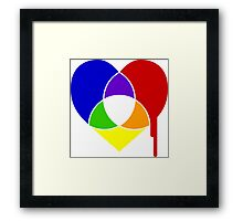color chart heart Framed Print