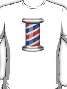 Barber Pole Apple / WhatsApp Emoji T-Shirt