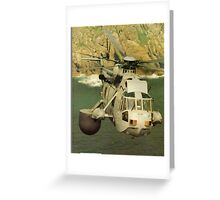 A Sea King Helicopter belonging to 849 sqn Greeting Card