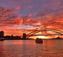 Lipstick - Sydney Harbour Dawn - Moods Of A City - The HDR Experience by Philip Johnson