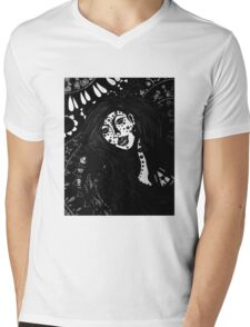 The Spiritual Catalyst B & W Mens V-Neck T-Shirt