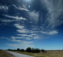 hot lonely road west of Tara QLD by Danny  Waters