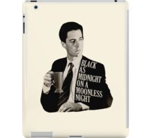 Cooper and good cup of coffee iPad Case/Skin