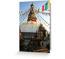Monkey Temple Greeting Card