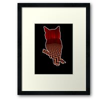 Owl (Twin Peaks) color Framed Print