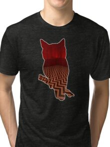 Owl (Twin Peaks) color Tri-blend T-Shirt