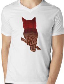 Owl (Twin Peaks) color Mens V-Neck T-Shirt