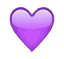 Purple Heart Apple / WhatsApp Emoji by emoji